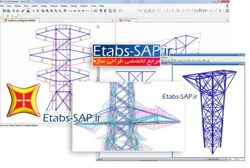 تحلیل کمانشی خرپا، دکل، سکوهای دریایی و گنتری ها در SAP2000
