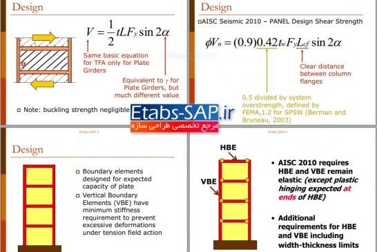 سمینار دیوار برشی فولادی (آزمایش، طراحی و اجرا)