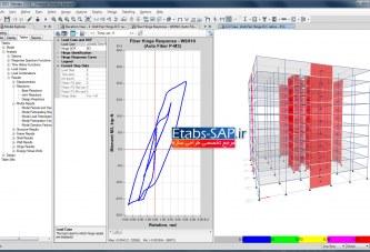 ترسیم منحنی هیسترزیس در SAP2000