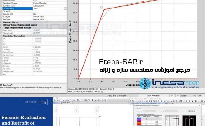 فایل Etabs پروژه بهسازی و تحلیل پوش اور